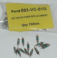 100 Green Bond Tire Valve Stem Core Fits:tr413 Tr414 & A/c Valve Core Replacment