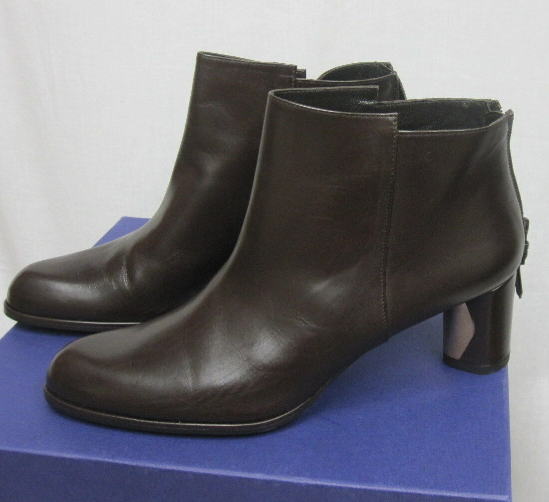STUART WEITZMAN NWT Walnut Brown Calf Leather Ankle Boots SZ 8  498