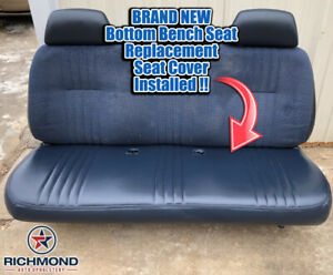 Remarkable Details About 1995 1999 Gmc Sierra C K 1500 2500 3500 Wt Sl Bottom Bench Seat Vinyl Cover Blue Machost Co Dining Chair Design Ideas Machostcouk