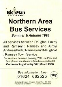 Bus-Timetable-Isle-of-Man-Transport-Northern-Area-March-1998-Summer-amp-Autumn