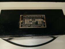 The France Manufacturing Co Franceformer Gaseous Tube Transformer Made In Usa