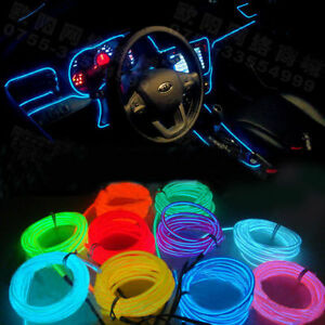 Blue Colour 5 Meter Interior Refit Car Styling EL wire light for ...