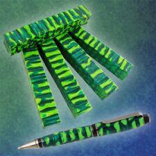 "Pen//Razor Blank 3//4/""sq x 5/"" - Orange Green Blue Acrylester #M2 41 1 pc"