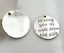 "/""Missing you as I walk down the aisle/"" pendants rhodium x 10"