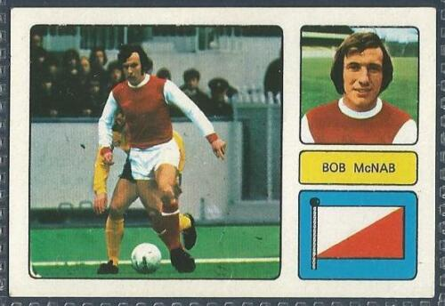 FKS 1973//74 WONDERFUL WORLD OF SOCCER STARS-#007-ARSENAL-BOB McNAB