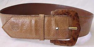e3b233388 Image is loading Vintage-Gucci-Ladies-Lizard-Skin-Belt-Size-28