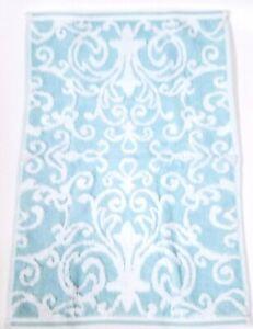TAHARI DENIM BLUE /& WHITE SWIRL PATTERN COTTON BATH,2 HAND TOWEL,OR 2 FINGERTIP