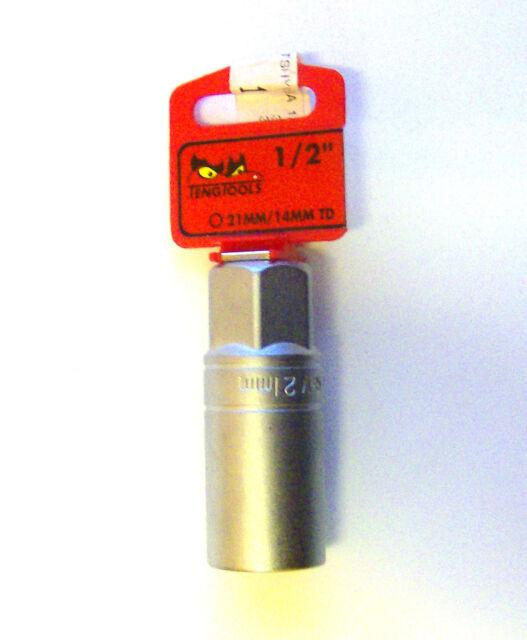 Teng Herramientas M120046-C Conector de Bujía 6 Punto con Unidad 1,3cm 21mm