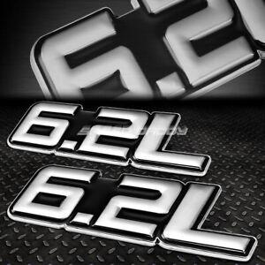 METAL BUMPER BODY GRILL FENDER EMBLEM DECAL LOGO BADGE CHROME RED 6.0 6.0L V8