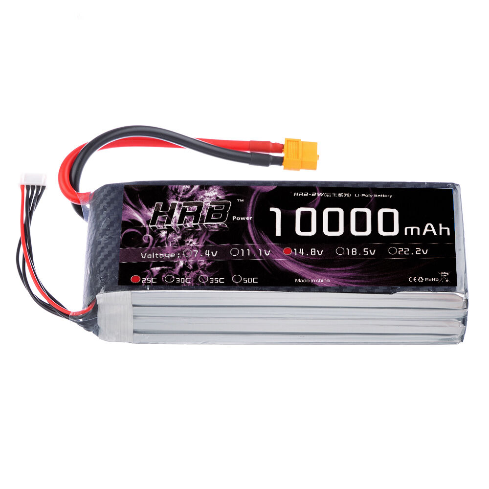 HRB 14.8V 10000mAh 4S LiPo Battery 25C XT60 Plug for RC Helicopter DJI Drone UAV