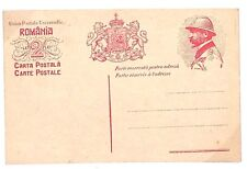DA144 ROMANIA WW1 ERA Unused 2 Lei Postal Stationery Postcard Scarce