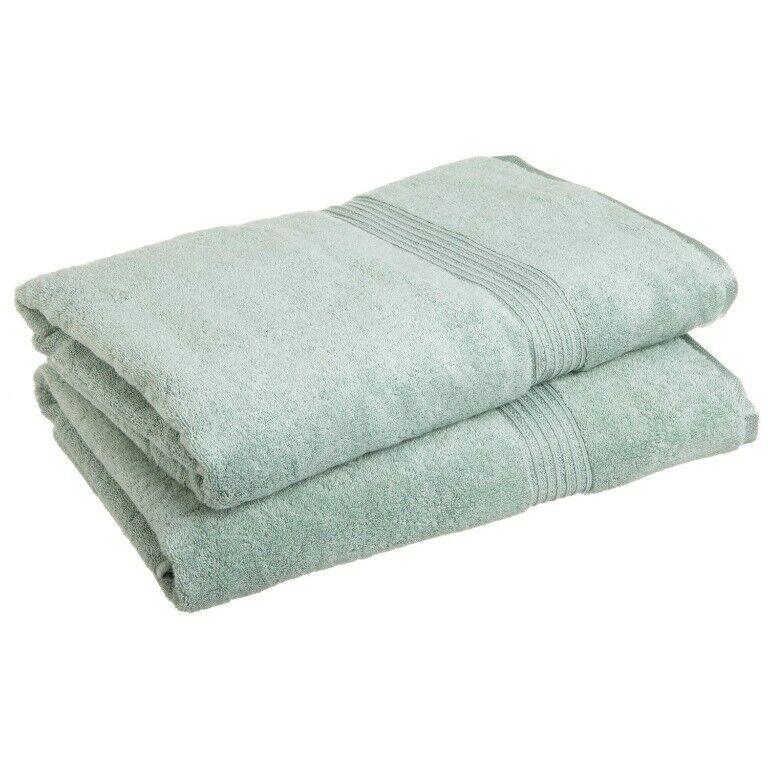 2-Pc Sage Grün Superior 600 GSM Egyptian Cotton Bath Sheet Towel Set 1-Ply