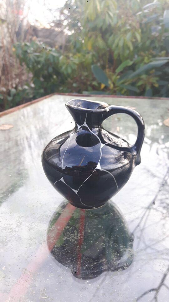Keramik, Lille kande, sort/hvid/guld