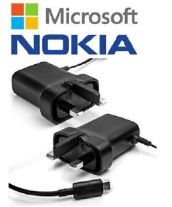 Genuine-AC-18x-Micro-USB-Mains-Charger-UK-3-Pin-Plug-for-Nokia-Phones