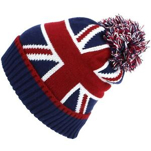 f72cf144b3b Beanie Hat Cap Bobble Warm Winter UNION JACK Macahel Soft Lining Men ...