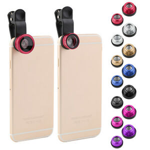 3 IN 1 Clip On Phone Camera Lens Eye+Wide Angle+Micro For iPhone Samsung
