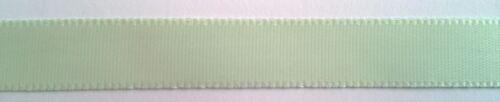 10m Single Sided Satin Ribbon Quality Tying Ribbon 12mm wide Light Green R020