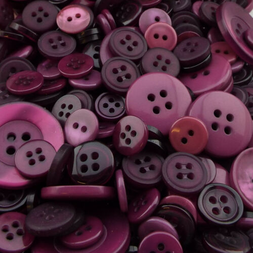 24 COLOUR Mixed Size Design Plastic Buttons Assorted Craft Costume BUY 50g 100g
