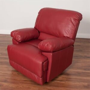 Strange Details About Lea Bonded Leather Reclining Chair In Red Uwap Interior Chair Design Uwaporg