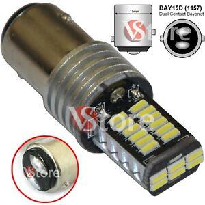LAMPADA-LED-Stop-Freni-BAY15D-1157-P21-5W-30-SMD-4014-CAMBUS-BIANCO-No-Errore