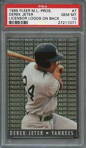1995-fleer-major-league-prospect-7-DEREK-JETER-new-york-yankees-PSA-10