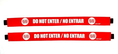 Haylins Do Not Enter Sign with Magnetic Ends English and Spanish Door Barrica...