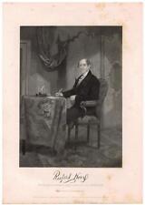 Rufus King 1862 Steel Engraving Print Senator New York Continental Congress