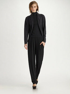 New NWT $895 Donna Karan New York sz P Pleated Jersey Trousers Pants