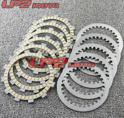 Clutch Friction Steel Plates Kit for Suzuki GT185 GT200 TS125 TS185 TS250 RG125