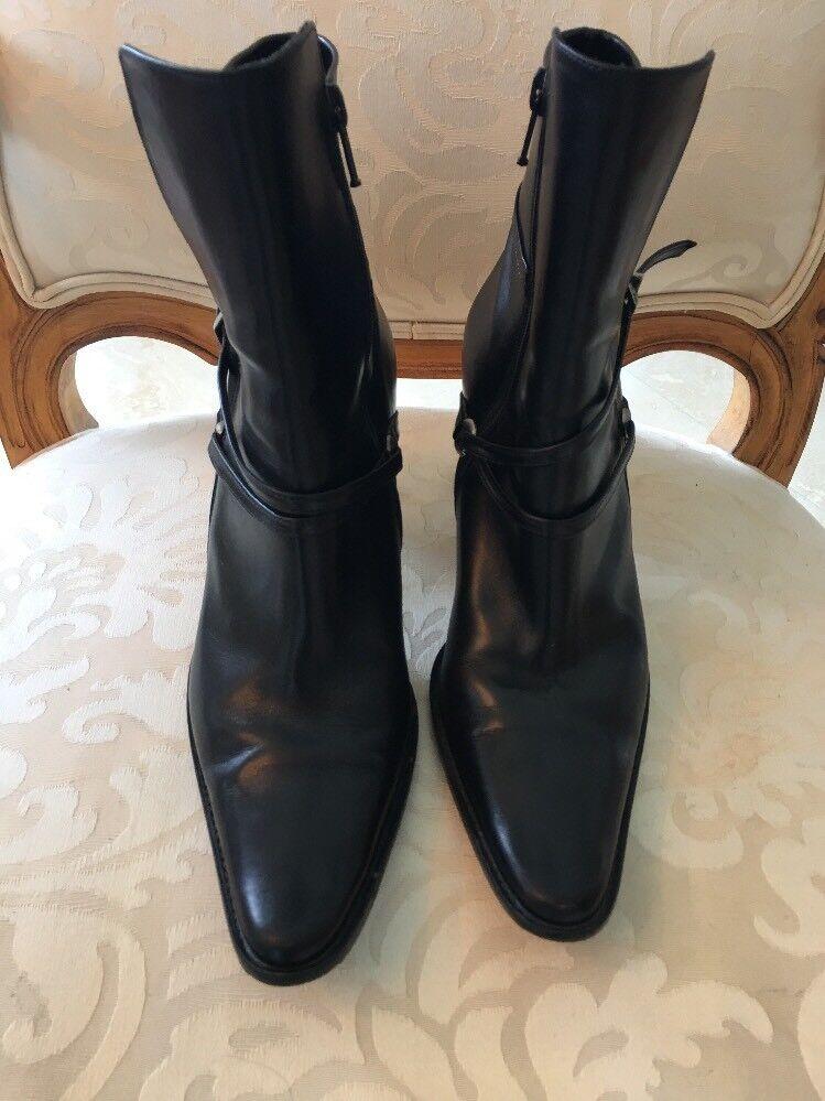 consegna rapida Goffredo Fantini Fantini Fantini nero Leather Ankle stivali Heels Dimensione 8  outlet in vendita