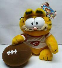 Vintage Dakin Garfield Football is My Life Stuffed Animal - Brand New With Tags