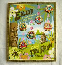 Enchanted Tiki Room 6 Pin GWP Set on Card Map DLR Disneyland