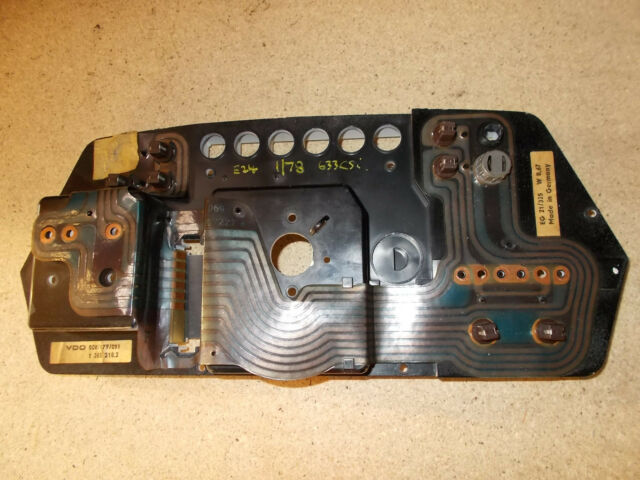 BMW E24 Early Model Instrument Cluster Circuit Board And Plate. BMW E24 Early Model Instrument Cluster Circuit Board And Plate 1365218 1360525. BMW. BMW E24 Instrument Wiring Connector At Scoala.co
