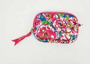 Genial Details About Lilly Pulitzer Wristlet Zippered Wallet Purse Pink Blue  Floral Faux Fur Lined