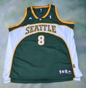 Details about Vintage Adidas NBA Seattle Supersonics Luke Ridnour #8 Jersey Size 3XL.