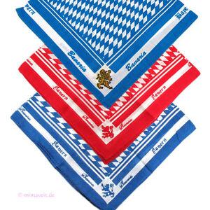 Trachtentuch Foulard Mouchoir Le Tabac Bleu Blanc Rouge Losange Bavarois Lion-afficher Le Titre D'origine Nourrir Les Reins Soulager Le Rhumatisme