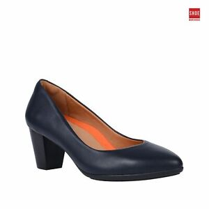 Hush Puppies THE POINT Navy Womens Heels Corporate Leather Heels