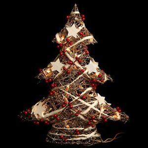 Weihnachtsbaum Rattan.Details Zu Weihnachtsbaum Tanne M Beleuchtung 50 Cm Weihnachten Advent Deko Stern Rattan