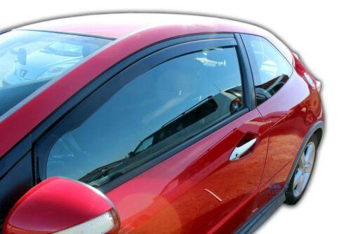 KIA CEE sería de 3 puertas y 2008-2012 frontal viento desviadores 2pc Set tintadas Heko