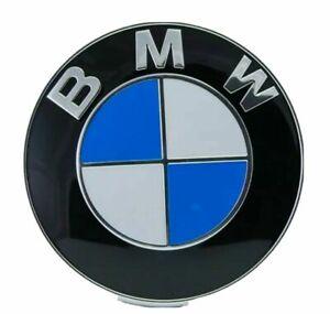 Embleme-Logo-insigne-BMW-82mm-capot-coffre-OEM-51148132375-M3-E46-E90-E39-E60-X5