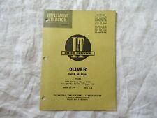Oliver 770 880 950 990 Tractor Service Shop Manual