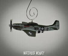 Texas WWII Fighter P-51 Mustang USAF Christmas Ornament Airplane Single Prop