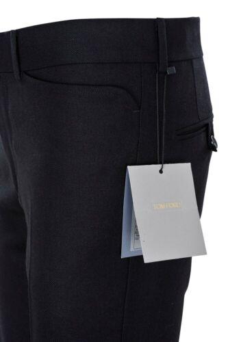 Tom Ford Pants Men/'s 46 R Regular Fit Black Mohair Piqué  spring-summer collec