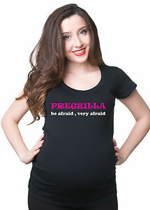 Pregzilla-be-afraid-maternity-Pregnancy-T-shirt-Tee-Shirt-Gift-for-new-mom