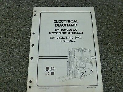 Hyster EV100LX EV200LX SCR Motor Controller Electrical Wiring Diagrams on hyster electrical diagrams, hyster w40z, hyster ignition system, hyster 5.0 engine, hyster hydraulic diagram, hyster forklift tire diagram, hyster forklift schematic,