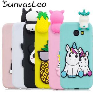 Pour-Samsung-3D-CARICATURE-Licorne-panda-chien-etui-souple-telephone-couverture-arriere-Shell-PEAU