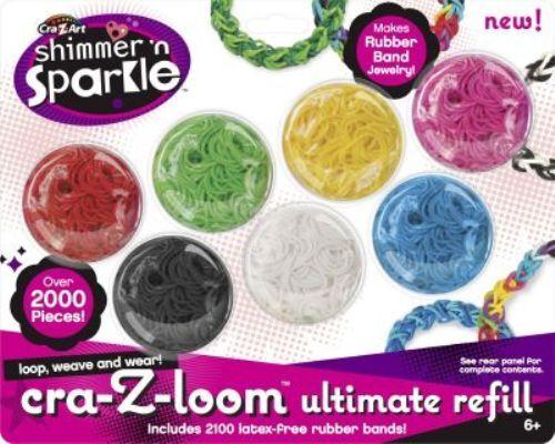 CRA-z-loom ** ultimate 2100 rouleaux en caoutchouc loombänder anneaux bandes dans 7 couleurs