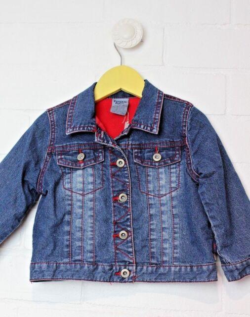 PUMPKIN PATCH Denim Jacket with fleece lining Size 2 warm winter coat boys girls
