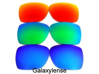 Galaxy Lenti Di Ricambio Per Spy Optic Helm Sole Blu & Verde & Rosso Polarizzati
