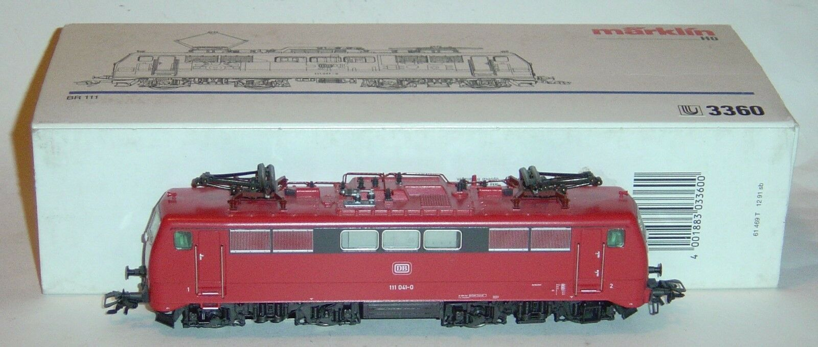 Marklin ho, electric locomotive Excellent br111 DB ref.3360 5-pole digital
